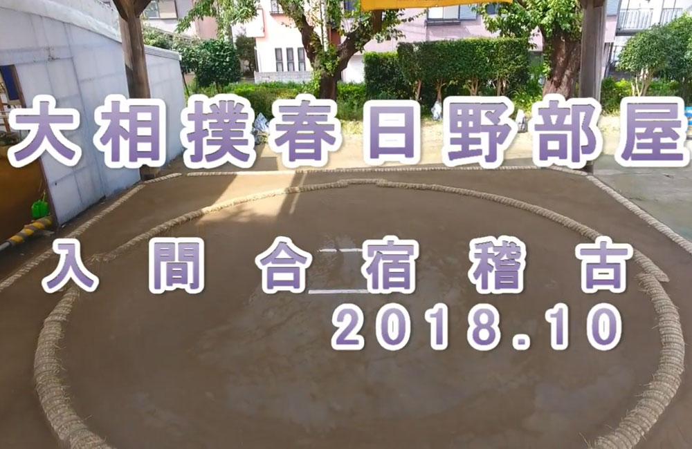 【ドローン活用事例11】春日野部屋入間合宿を撮影
